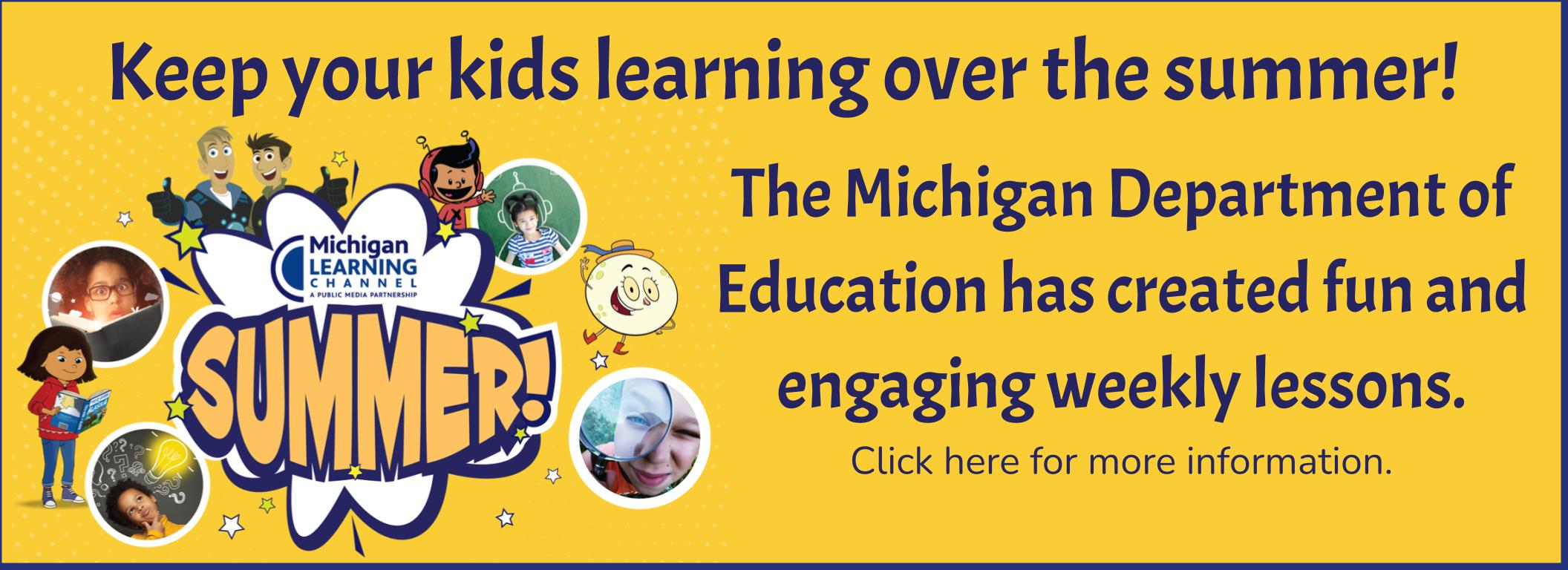 Michigan Learning Channel Summer Lessons